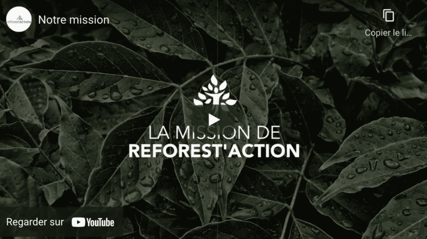 REFOREST'ACTION VIDEO YOUTUBE